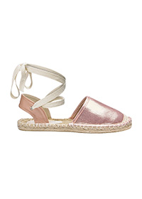 HEAVENLY SOLES LEG TIE ESPADRILLES WIDE E FIT