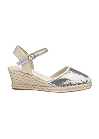 HEAVENLY SOLES SEQUIN ESPADRILLES WIDE E FIT