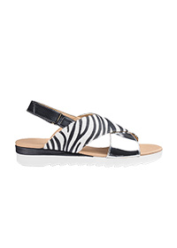 CUSHION WALK CROSS OVER SANDALS WIDE E FIT