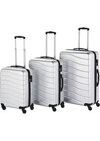 HIGH SHINE SET OF 3 ABS SUITCASES