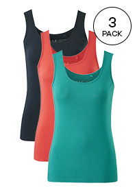 NAVY/ ORANGE/ JADE PACK OF 3 VESTS