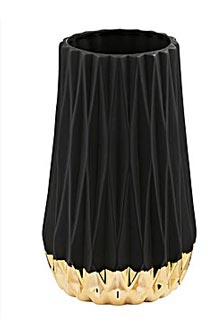 Hesti black & gold vase