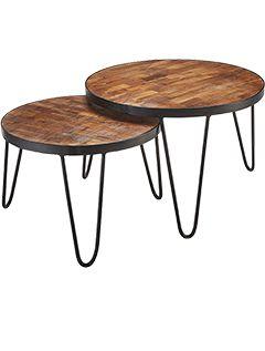 Camden Acacia Nest of Tables