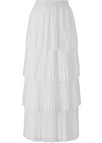 white maxi skirt