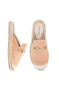 HEAVENLY SOLES TRIM MULE ESPADRILLES WIDE E FIT
