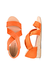 HEAVENLY SOLES STRAPPY SANDALS WIDE E FIT
