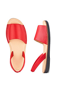 HEAVENLY SOLES LEATHER SLINGBACK SANDALS WIDE E FIT