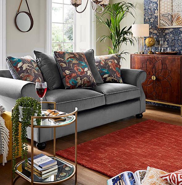 Mediterranean Escapade living room