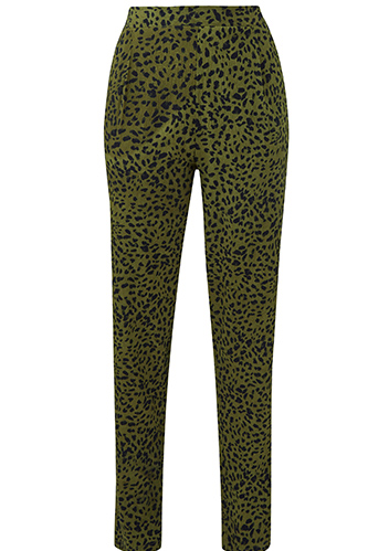 Khaki Animal Print Trousers