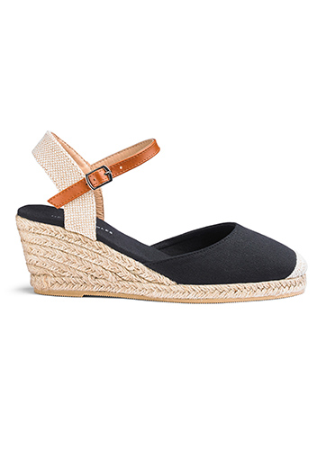 Low Wedge Espadrille Sandals