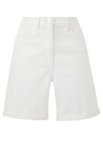 White Everyday Denim Shorts