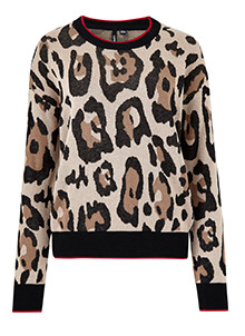 Leopard Crew Neck Jumper