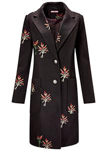 Wool Fit & Flare Coat