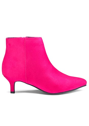 Kitten heel ankle boot