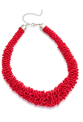 Red Seedbead Necklace