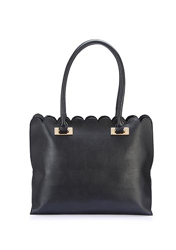 Scalloped edge shopper bag