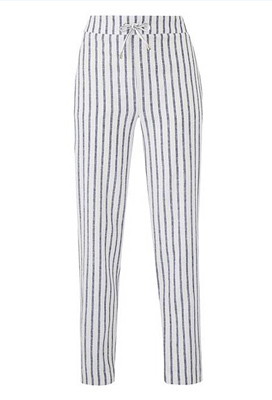 Linen Mix Stripe Trouser