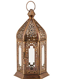 French Blossom Gold Ornate Lantern