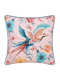 French Blossom Pattern Cushion