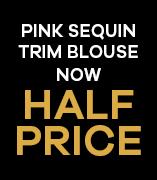 Pink Sequin Trim Blouse Now Half Price