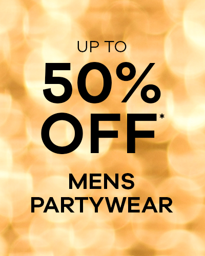 Up to 50% Off* Mens Partywear