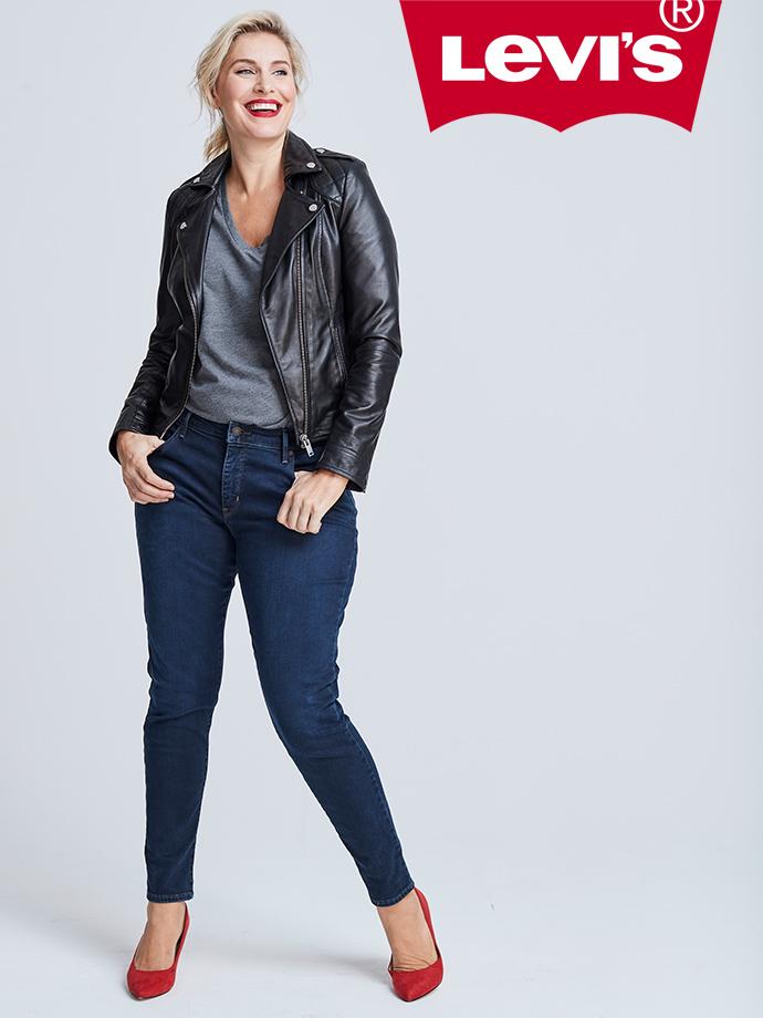 Model in Levi's jeans