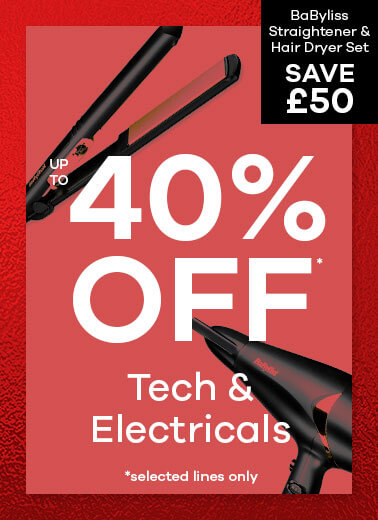 up to 40% off Electricals and Tech