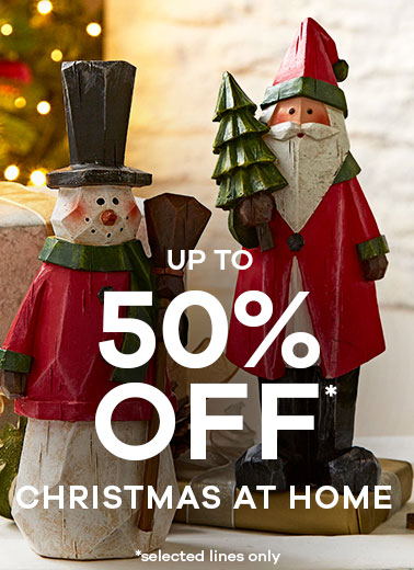 up to 50% off Christmas At Home