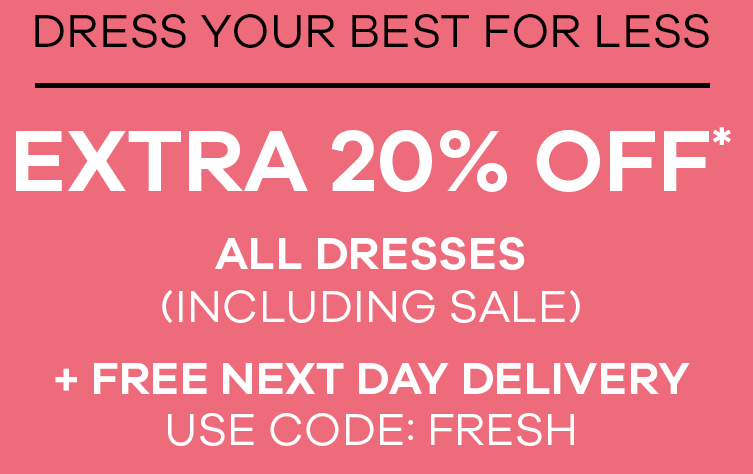 Extra 20% Off including sale plus free next day delivery