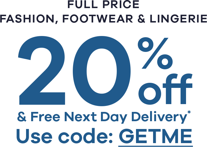 20% Off & free next day delivery*