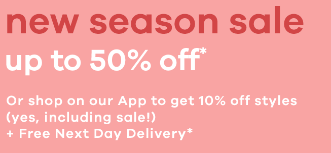 New season sale up to 50% off