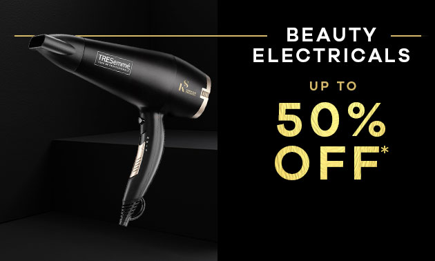 50% off  Beauty & Electricals
