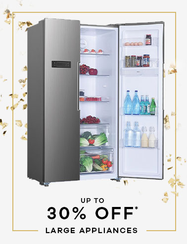up to 30% off* Large appliances