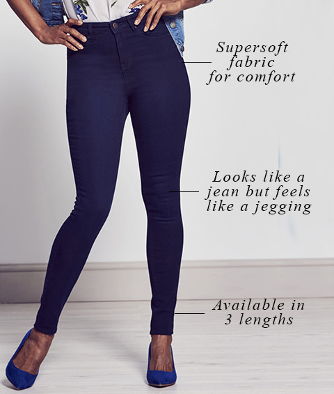 Supersoft fabric for comfort   Looks like a jean but feels like a jegging   Available in 3 lengths