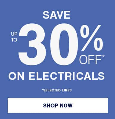 save 30% on electricals