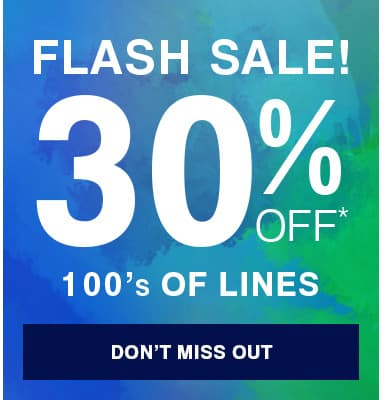 30% off 100's of lines