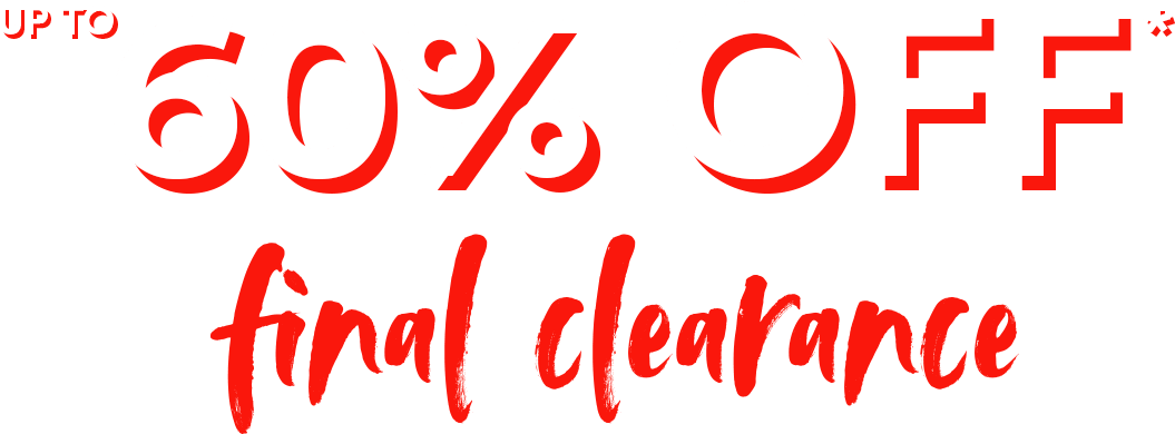 up to 60% off final clearance