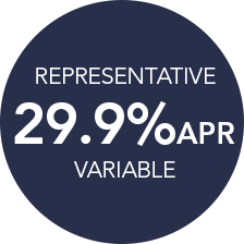 REPRESENTATIVE 29.9% APR VARIABLE